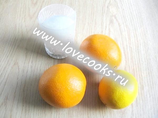 Інгредієнти для апельсинового джему