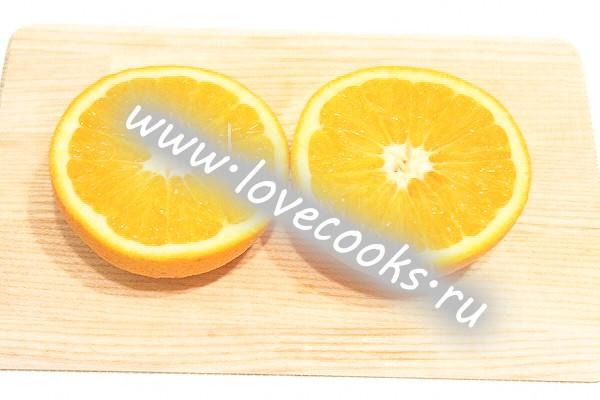 Фруктовий салат в апельсинах