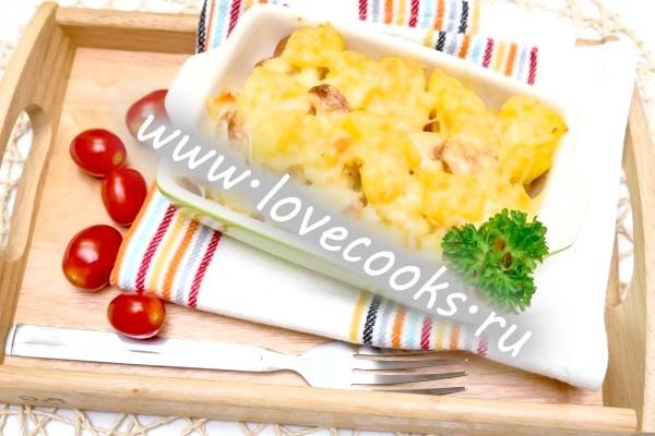 Рецепт картоплі тушкованого з сосисками