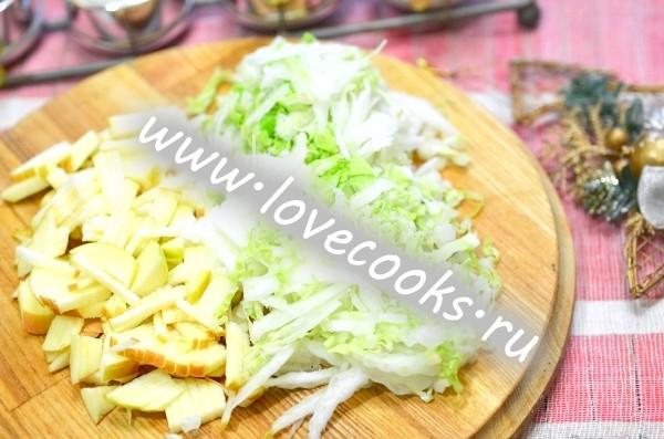 Крабовий салат з пекінською капустою