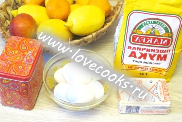 Інгредієнти для лимонного торта
