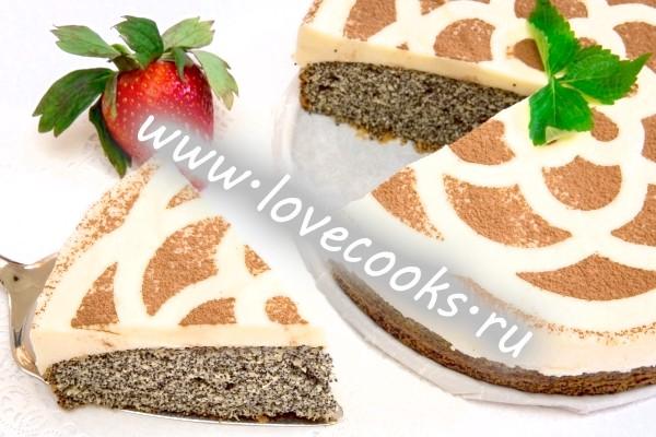Рецепт макового торта зі сметаною