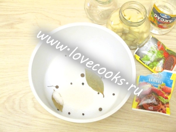 Інгредієнти для маринаду