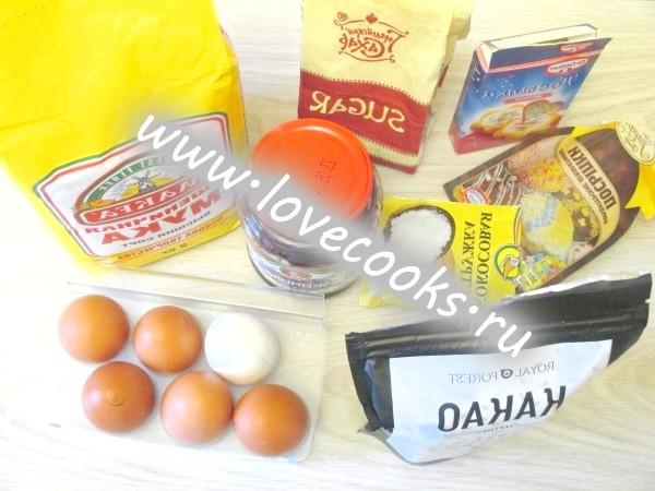 Інгредієнти для тістечок буше