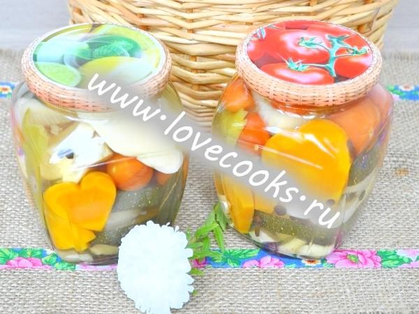 Рецепт асорті з овочів на зиму