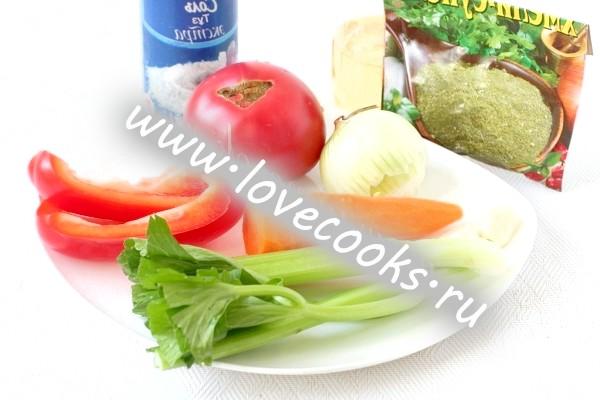 Інгредієнти для підливи до гречки без м'яса