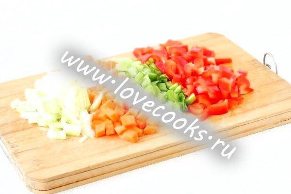 Овочі порізані
