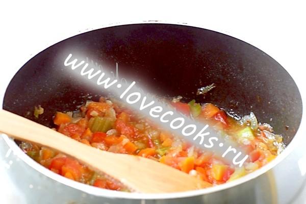 Гасіння овочів