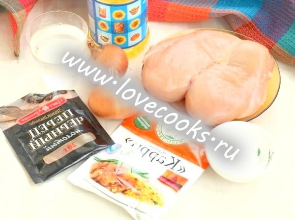 Інгредієнти для підливи з курки до картопляного пюре