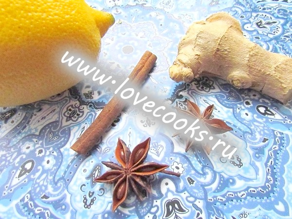 Інгредієнти для імбирного чаю