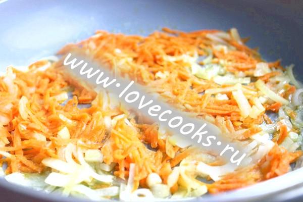Салат з морепродуктів з печерицями