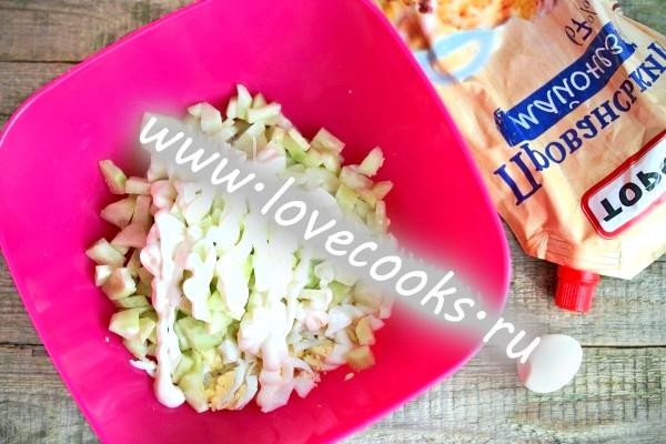 Салат з огірків і перепелиних яєць