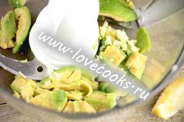 Авокадо в блендері
