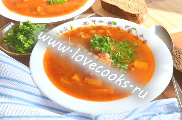 Рецепт супу з гарбузом і квасолею
