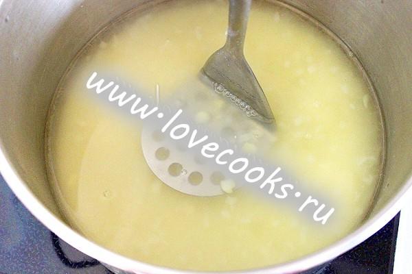 Сирний суп з креветками