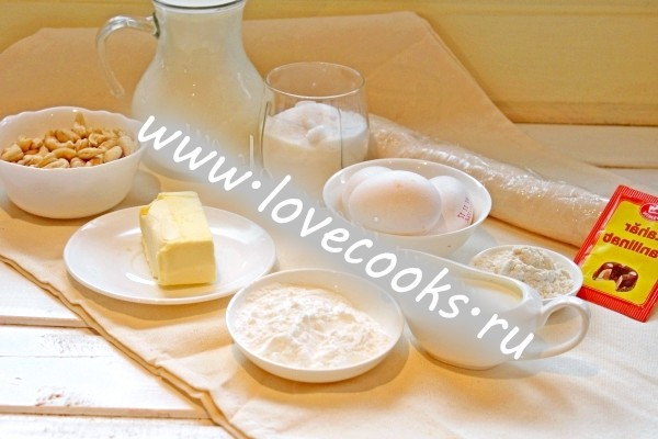 Інгредієнти для торта Поліно
