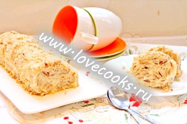 Рецепт торта поліно з листкового тіста