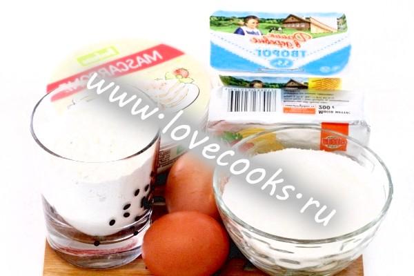 Інгредієнти для сирних профитролей