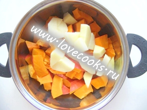 Гарбузовий суп-пюре з морквою